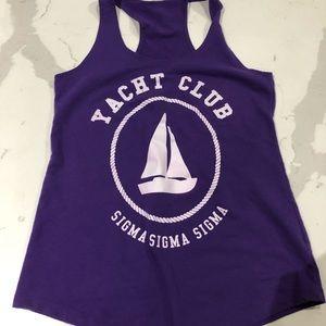 Tank top yacht club Sigma Sigma Sigma next level